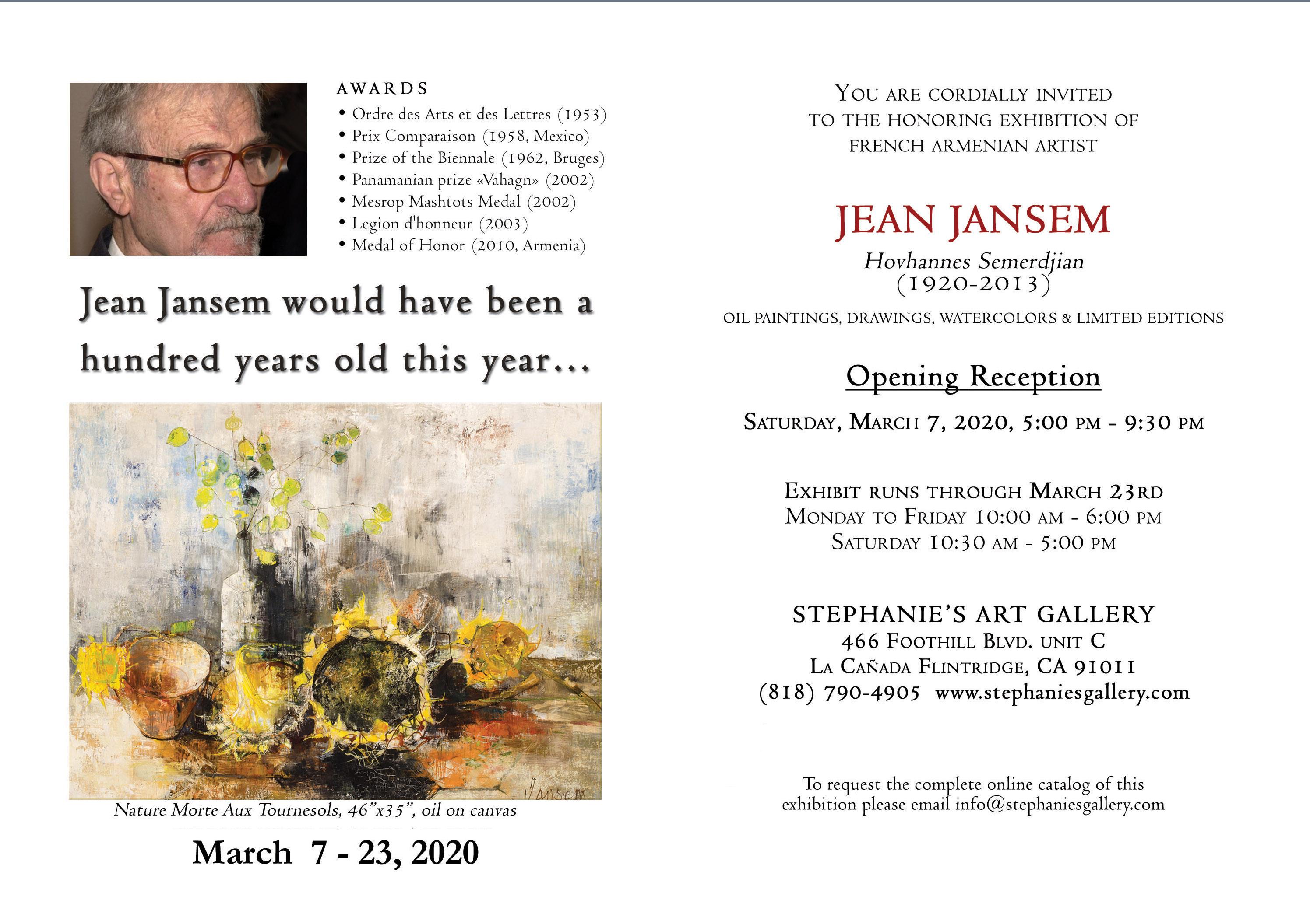 Jean Jansem's Centennial Exhibition