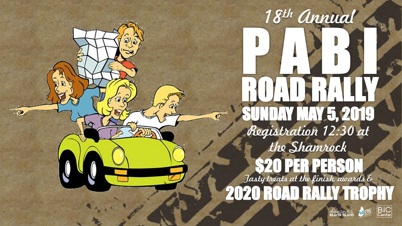18th PABI Road Rally @ Beaver Island Community Center