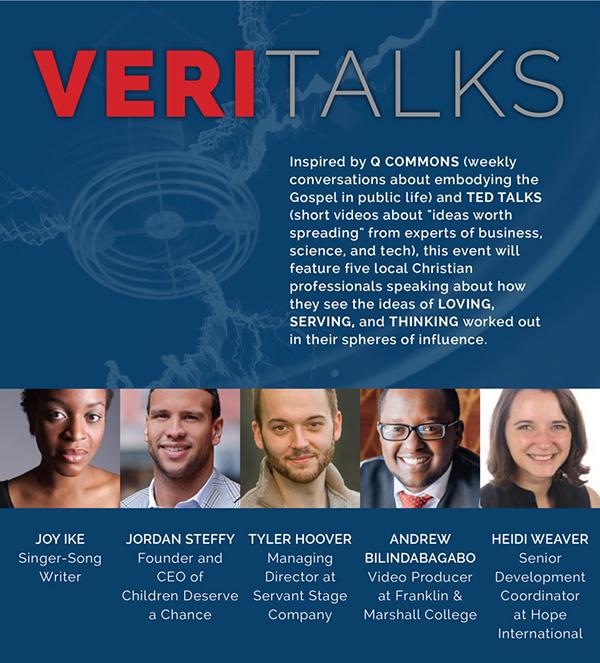 Veritalks flyer